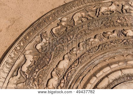 Ancient Moonstone, Anuradhapura, Sri Lanka