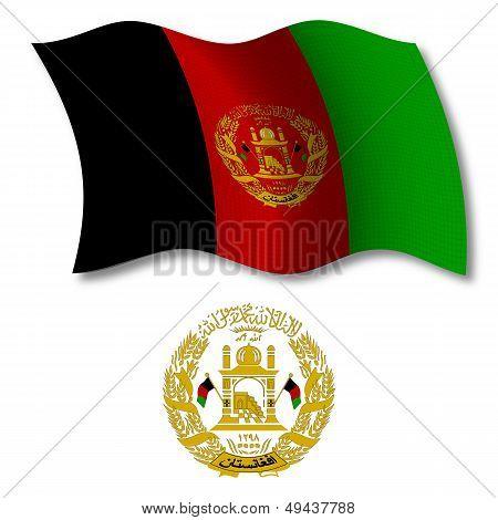 Afghanistan Textured Wavy Flag Vector