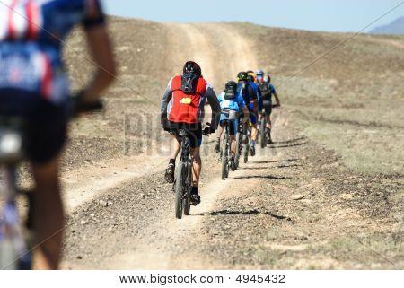 Adventure Mountain Bike In Desert
