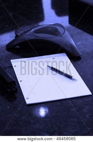 Blank Notebook With Intercom For Conference Call