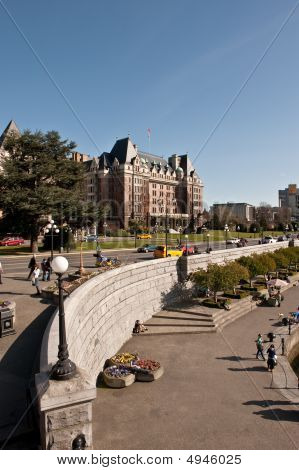 The Empress Hotel At Inner Harbour, Victoria, B.c., Canada