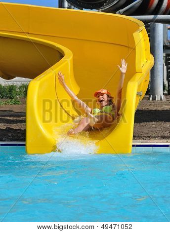 Girl In The Aquapark