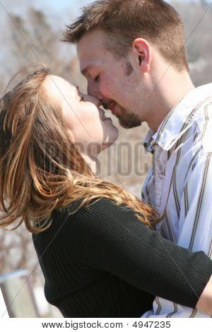 Young Couple Embrace Ii