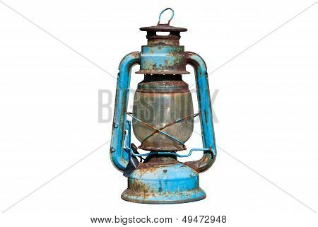 Old Rusty Oil Lamp