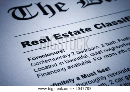Real Estate Ads On Newspaper