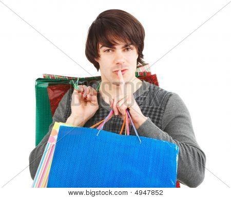 Happy Shopping Man