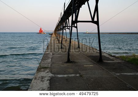 Sturgeon Bay Ship Canal Pierhead Lighthouse. Wisconsin, Usa