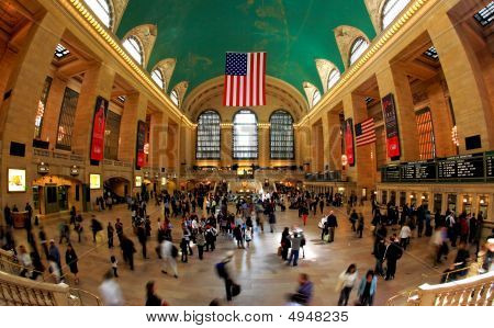The Grand Central Station In Nyc