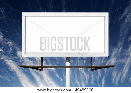 Blank Billboard Outdoor Advertising