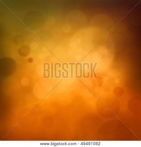 Yellow Autumn Bokeh Background