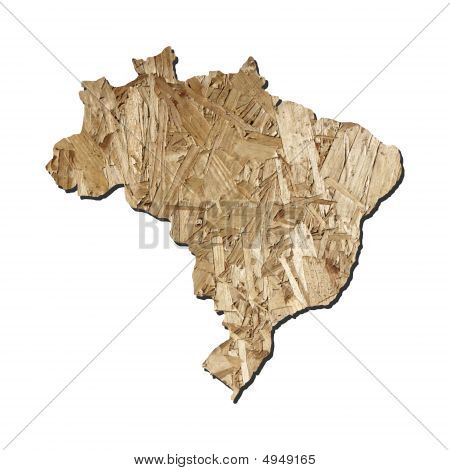 Brazil Chipboard Map
