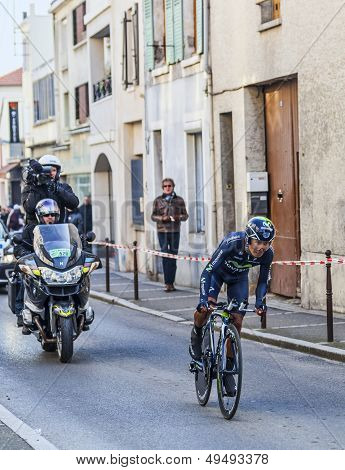 The Cyclist Quintana Rojas Nairo Alexander- Paris Nice 2013 Prologue In Houilles
