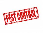 image of pest control  - Grunge rubber stamp with text Pest control - JPG