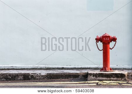 Red Fire Pumps On The Street