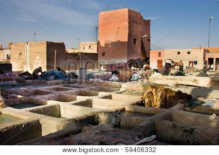 Old Tannery In Moroccan Medina