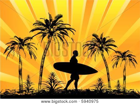 Tropical Surfer