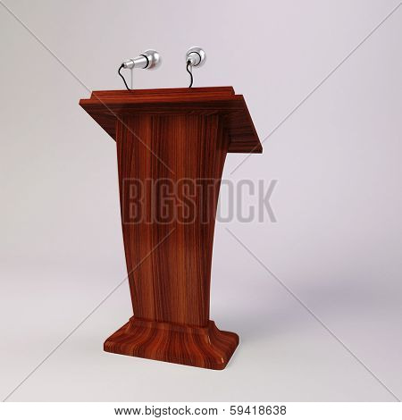 3d tribune speech and  microphones
