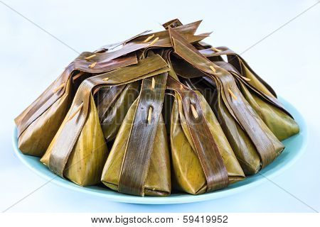 Thai sweetmeat named Kanom Sod-Sai in thai