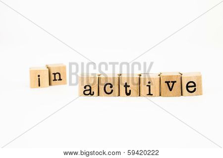 Split Inactive Wording, Active Wording For Motivation Concept