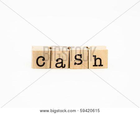 Cash Wording, Money Concept And Idea