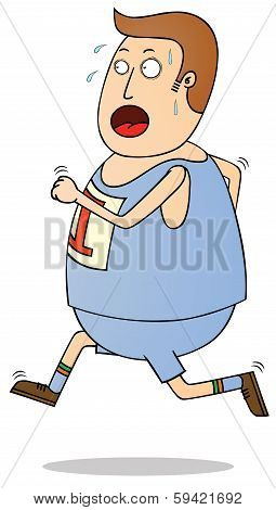 Jogging Fat Man