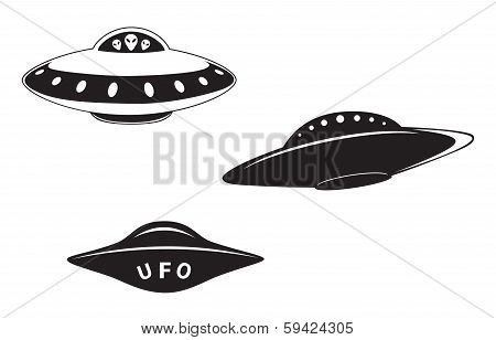 Set Of Flying Saucers