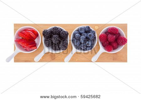 Variety Of Fresh Ripe Autumn Berries