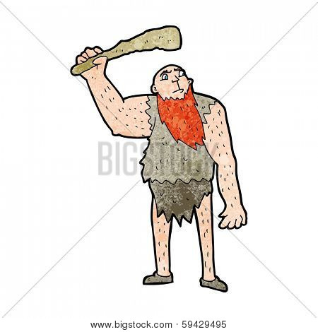 cartoon neanderthal