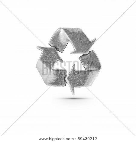 Metallic Recycling Symbol