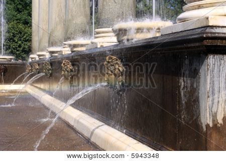 Lion's Fountain In Peterhof