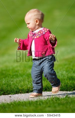 Baby Girl Walking