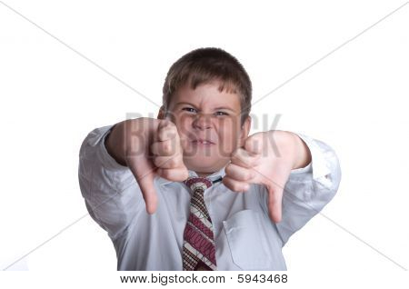 The Boy Hands Shows Discontent