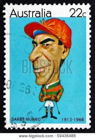 Postage Stamp Australia 1981 Darby Munro, Jockey