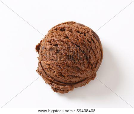 scoop of dark chocolate ice cream