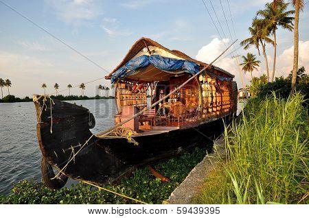 Boat house docked