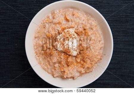 Pumpkin Pie Oatmeal Porridge