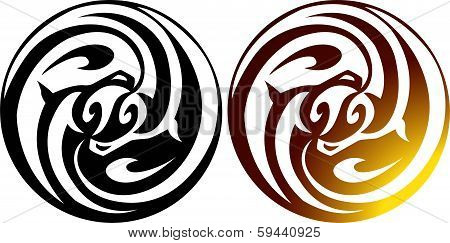 Decorative element for design or tattoo