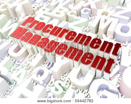 Business concept: Procurement Management on alphabet background