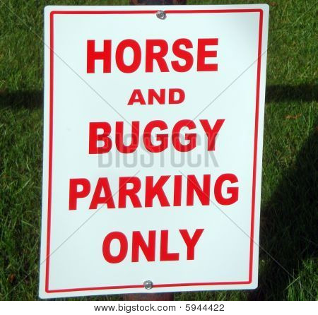 Horse Parking Only Sign