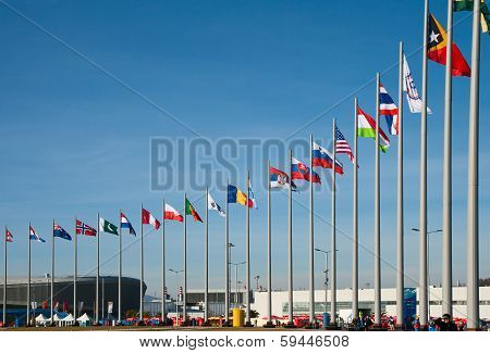 Flags Of The Countries-participants Of Winter Olympic Games