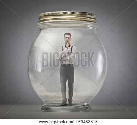inside the jar