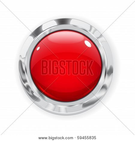 Big Red Glass Button