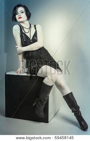 Fashion Portrait Young Beautiful Woman
