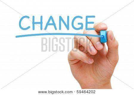 Change Blue Marker