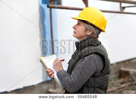 Inspector At Construction Site