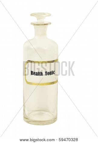 old apothecary bottle with health tonic