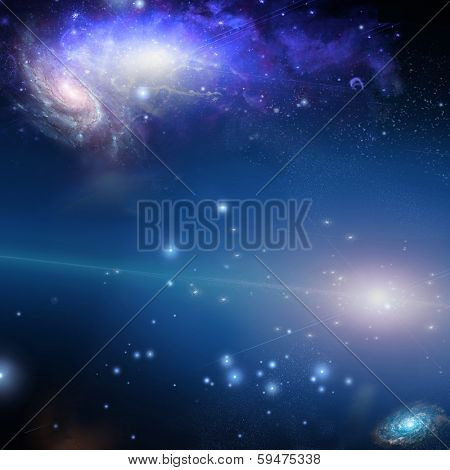 Nebulous filaments swirl and gather in deep space Elements of this image furnished by NASA