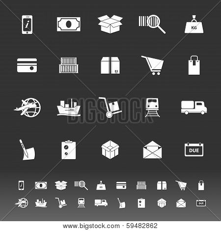 Shipment Icons On Gray Background