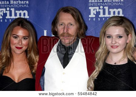 SANTA BARBARA - FEB 5:  Alexa Vega, Lew Temple, Abigail Breslin at the Santa Barbara International Film Festival Honors Oprah Winfrey at Arlington Theater on February 5, 2014 in Santa Barbara, CA