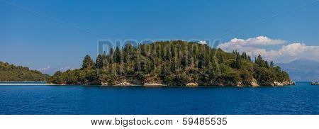 The Scorpios island in Nidri Lefkada Greece
